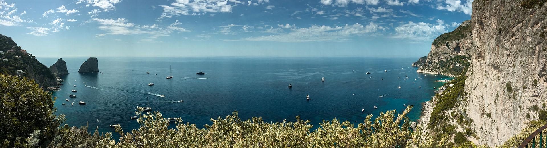 capri faraglioni panorama destination wedding