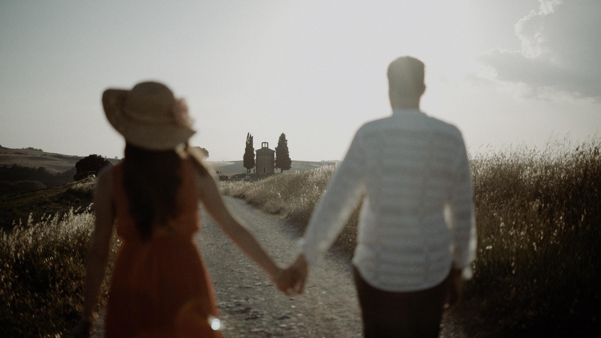 Paesaggio della toscana dove sposarsi