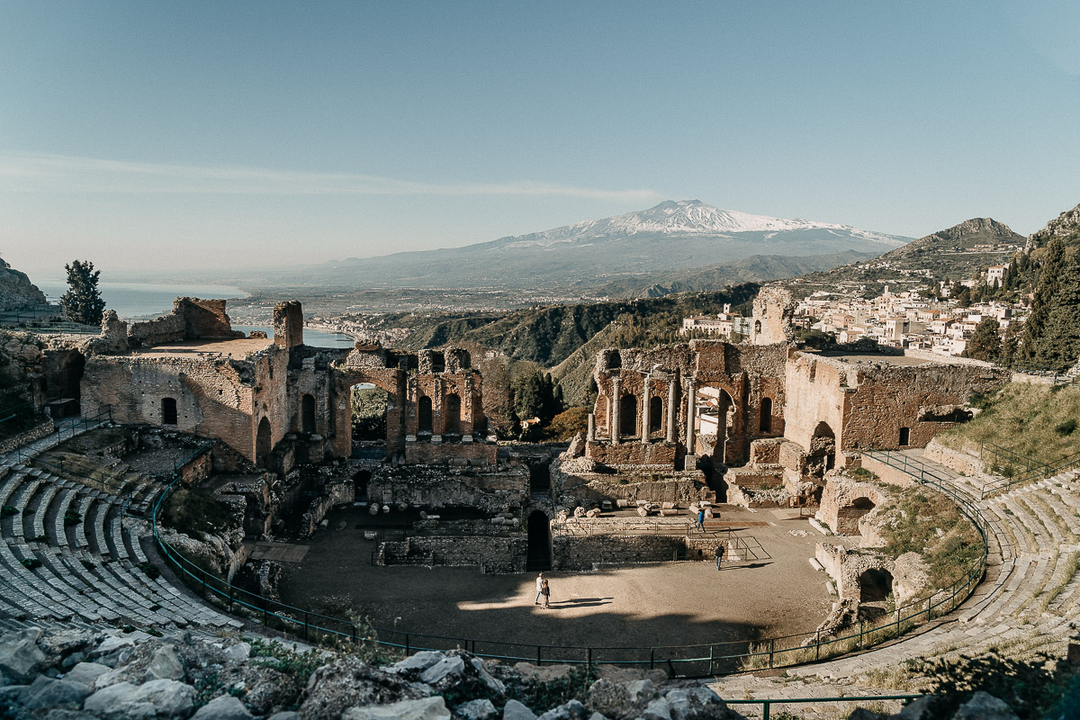 teatro greco antico a taormina