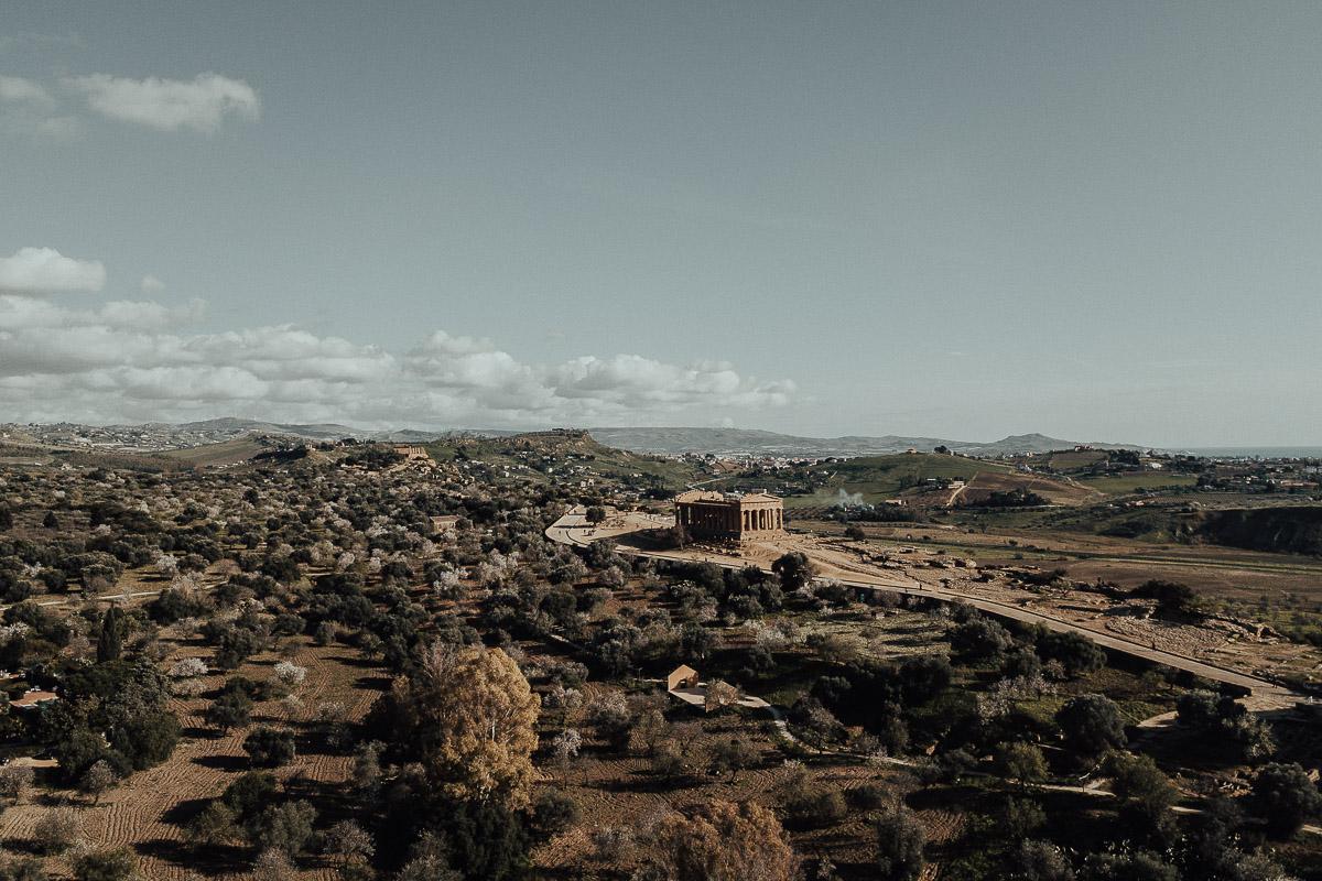 La valle dei templi agrigento foto drone